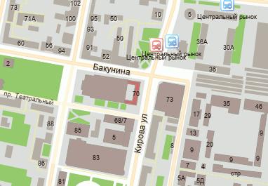 Улица кирова дом 70 на карте пензы